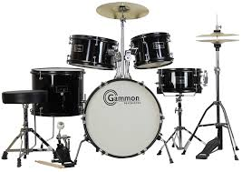 amazon com gammon 5 piece junior starter drum kit with cymbals