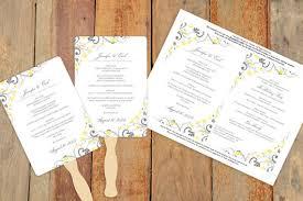diy wedding program fan template diy wedding fan program template instantly editable