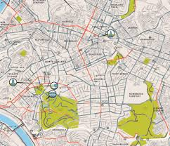 Portland City Maps by The Urban Bike Map Sans Spaghetti U2014 Informing Design Inc