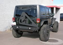 jeep bumper jk tire swing rear bumper carrier