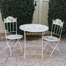 Tile Bistro Table Outdoor Folding Bistro Table And Chairs With Tile Mosaic Ebth