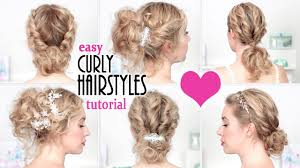 easy hairstyles for prom wedding party quick curly updo for