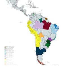 Brazil Map States by Current Separatist Movements In South America Country Names