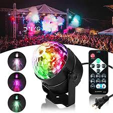 led disco ball light solmore led disco ball party lights ripple light sound activated dj