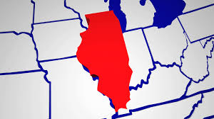 Illinois Map Usa by Illinois Il Animated State Map Usa Zoom Close Up Motion Background