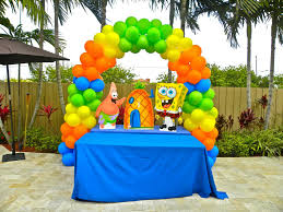 Kids Birthday Party Decoration Ideas At Home Spongebob Birthday Party Decoration Ideas Decorating Ideas