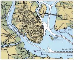 Charleston Zip Code Map by South Carolina Map Charleston Harbor Pull Down Map 44h X 60w