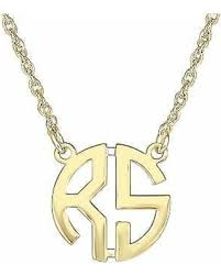 personalized monogram necklace get the deal 60 personalized 15mm block monogram necklace