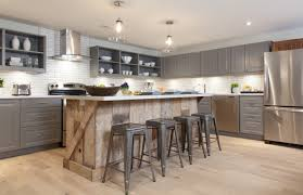 Kitchen Cabinets With Island Modern Country Kitchen With Reclaimed Wood Island And Quartz