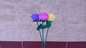 cara membuat bunga dengan kertas hias cara paling mudah membuat bunga mawar dari kertas krep youtube
