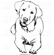 lab dog clipart black and white clipartxtras