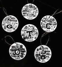 unique collegiate ornaments available atlanta intown paper