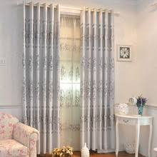 Thermal Back Curtains Gray Floral Energy Saving Modern Floral Curtains