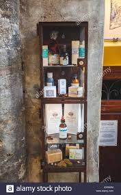 bagno shop crafts cosmetic exposed in windows shop in bagno vignoni stock