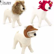 Dog Halloween Costume Lion Mane Aliexpress Buy Pet Funny Rabbit Crab Lion Mane Wig Hat