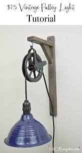 tutorial diy vintage style pulley light h20bungalow