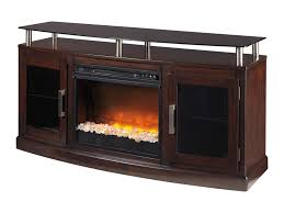 signature design by ashley chanceen tv stand with fireplace insert