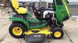 2015 john deere x750 series garden tractor youtube