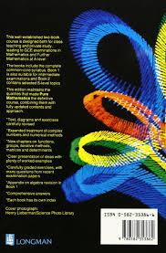 pure mathematics a first course 4th edition book 1 john k