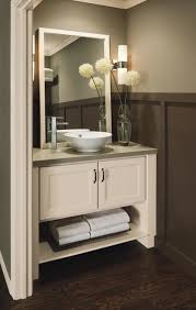 Corner Bathroom Vanities And Cabinets by Exquisite Corner Bathroom Cabinet Designs Using White Furniture