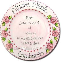 baby birth plates 38 best baby pottery painting images on pottery