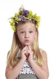 flower band flower band hair accessory in lime
