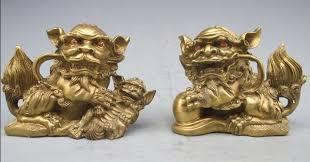 pixiu statue suirong 512 bronze copper fengshui fu foo dog lion