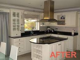 spray painting kitchen cabinets cost uk painted kitchens traditional painter