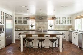 Industrial Kitchen Backsplash by Industrial Counter Stool Kitchen Transitional With Beige Tile