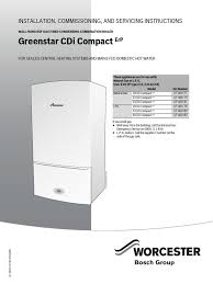 greenstar cdi compact combi erp installation and servicing
