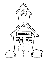 coloring page of a building coloring home