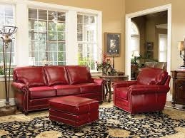 Living Room With Red Sofa by Love This Red Leather Sofa And Chair By Smith Brothers Special