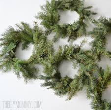 make real evergreen wreaths the diy