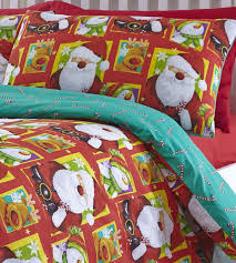father christmas tree santa reindeer snowman quilt duvet cover