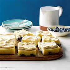 maple frosting blueberry pan cake with maple frosting recipe taste of home