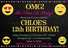 emoji birthday invitation emoji printable birthday invitation