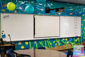 my ocean theme classroom surfing to success ocean themed classroom the white board is surrounded by an ocean scene