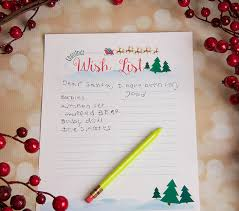 wish list printable christmas wish list