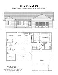 How Many Square Feet Is A 3 Car Garage by Floor Plan Van U0027s Realty U0026 Construction