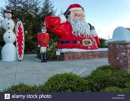 santa claus posing frosty snowman nutcracker