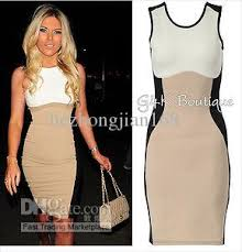 optical illusion dress new women s optical illusion contrast bodycon slimming fitted black