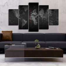 World Map Time Zone by Black And White Time Zone World Map 5 Piece Canvas Empire Prints