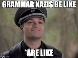 Grammar Nazi Memes - grammar nazis be like are like memes