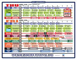 French Quarter New Orleans Map by 2013 French Quarter Festival Schedule Wwno