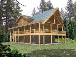 log cabin floor plans with basement two story house plan with walkout basement raised