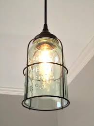 Jar Pendant Light Rust Cage Half Gallon Jar Pendant Light Out Of The