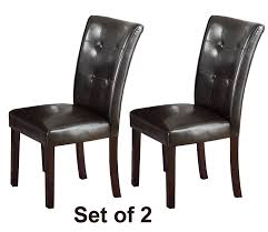 amazon black friday chair amazon com set of two dark brown faux leather parson chairs