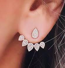 ear wraps and cuffs ear jackets trendy silver jacket earrings front back earrings