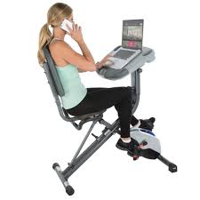 Office Desk Workout by Exerpeutic Workfit 1000 Fully Adjustable Desk Folding Exercise