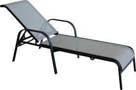 chaises longues de jardin chaise longue jardin empilable en acier gris foncé